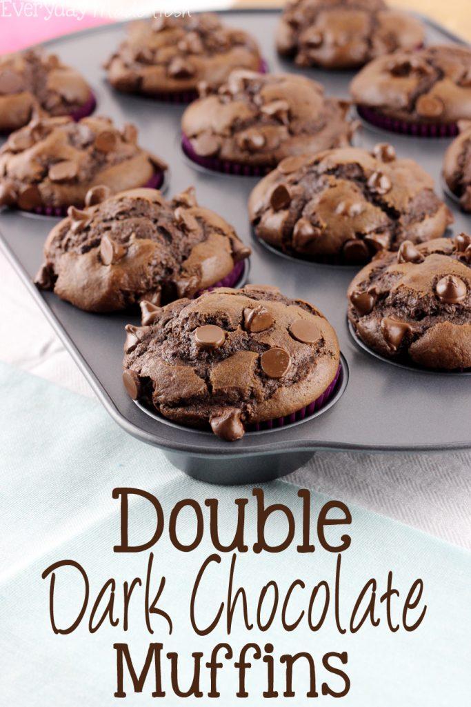 Double Dark Chocolate Muffins - Everyday Made Fresh