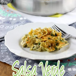 Salsa Verde Chicken and Rice Casserole
