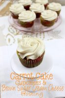 Carrot Cake Cupcakes & Brown Sugar Cream Cheese Frosting