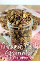Cinnamon Maple Granola with Cranberries