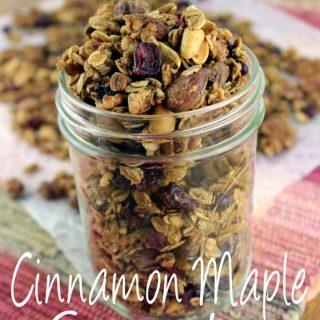 Cinnamon Maple Granola with Cranberries