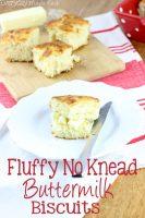 Fluffy No Knead Buttermilk Biscuits