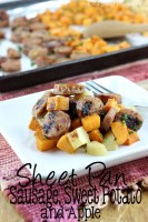 Sheet Pan Sausage, Sweet Potato, and Apple