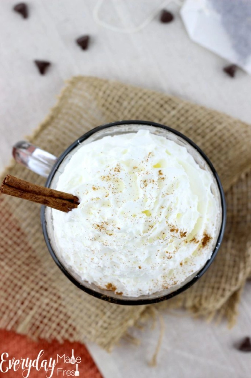 Chai Spiced Hot Chocolate is the perfect warming drink for all those cold winter days ahead!   EverydayMadeFresh.com