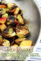 Pan Roasted Brussels Sprouts, Bacon, & Apple