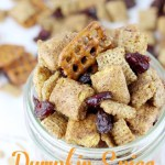 Sweetened with maple syrup, and spiced up just right, this Pumpkin Spice Chex Mix is the perfect fall snack.   EverydayMadeFresh.com