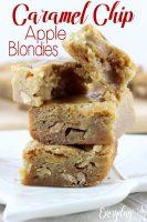 Caramel Chip Apple Blondies