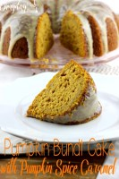 Pumpkin Bundt Cake with Pumpkin Spice Caramel