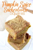 Pumpkin Spice Snickerdoodle Squares