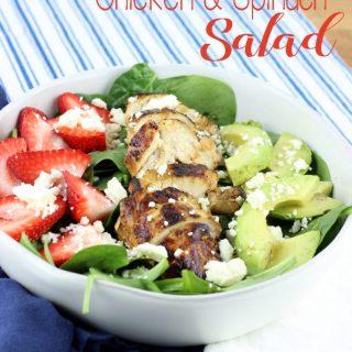 Balsamic Chicken & Spinach Salad