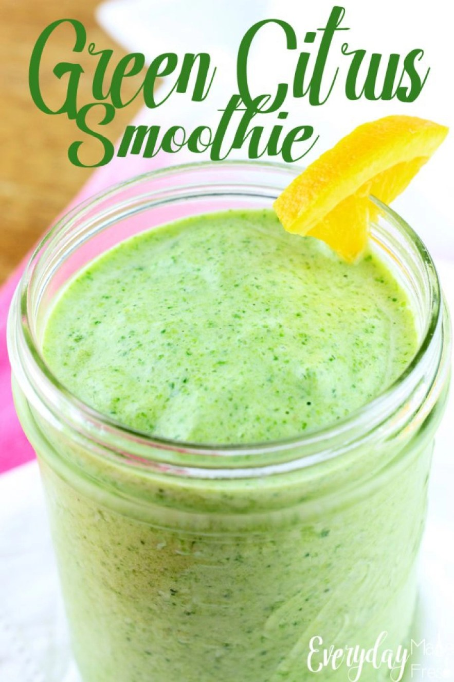 Looking for that perfect green smoothie that tastes amazing? This Green Citrus Smoothie is smooth, creamy, and tastes fantastic! The perfect way to start the day or enjoy for a healthy snack. | EverydayMadeFresh.com