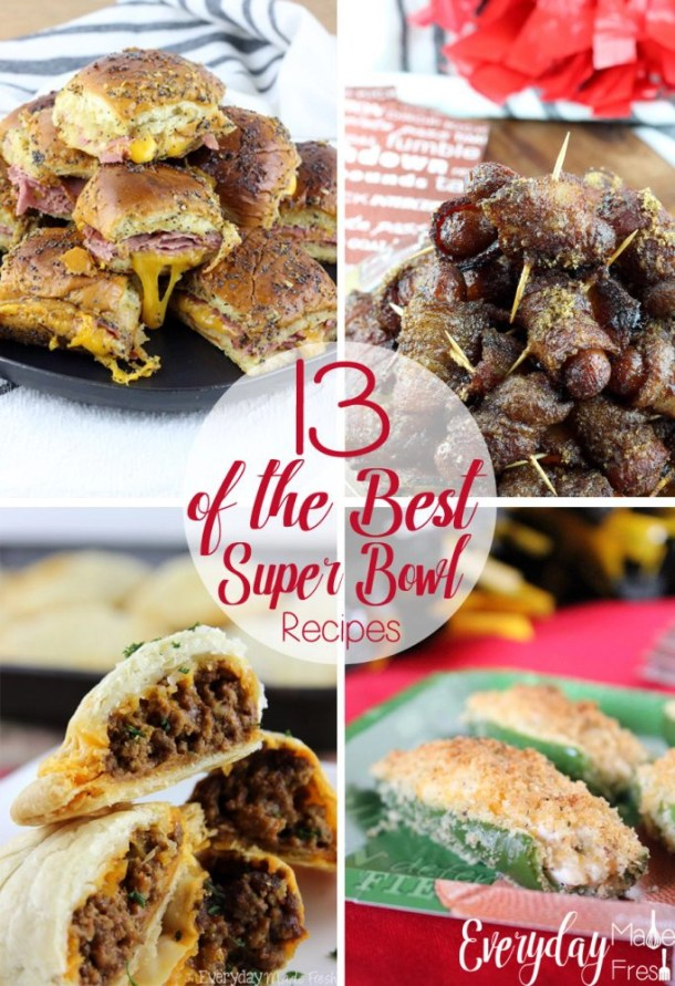 While you're planning for that Super Bowl party, these 13 Of The Best Super Bowl Recipes are going to make the menu a no-brainer! These recipes are simple and quick to prepare, and you can make them all ahead of the big game. | EverydayMadeFresh.com