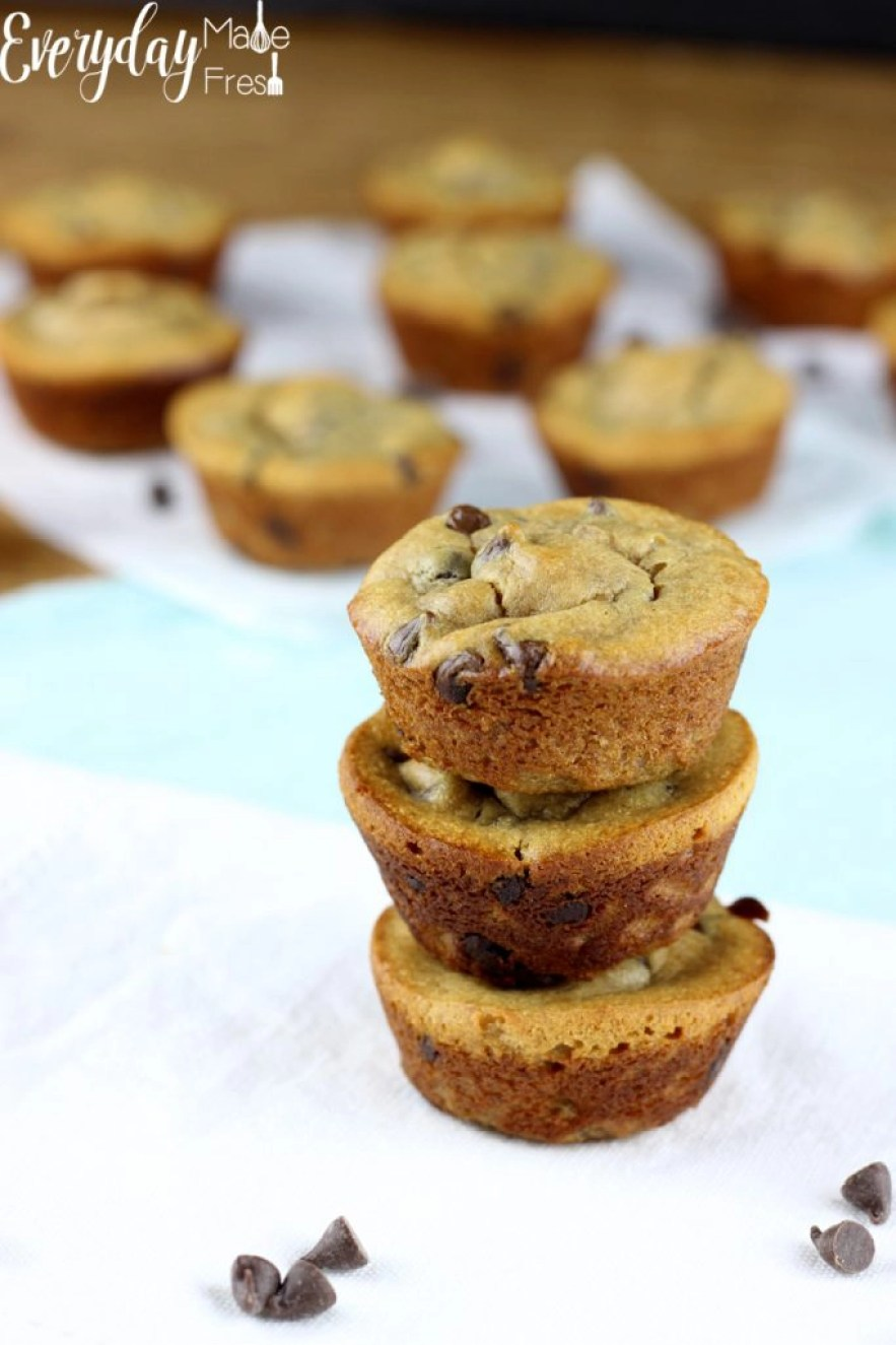 Peanut Butter Chocolate Chip Mini Muffins - Everyday Made ...
