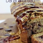 A classic childhood favorite with a new twist; this Peanut Butter & Jelly Banana Bread is going to quickly become your favorite!| EverydayMadeFresh.com