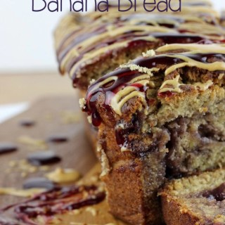 Peanut Butter & Jelly Banana Bread
