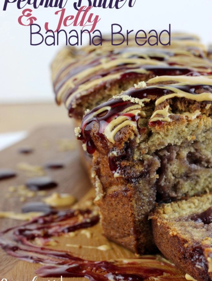 A classic childhood favorite with a new twist; this Peanut Butter & Jelly Banana Bread is going to quickly become your favorite!  EverydayMadeFresh.com