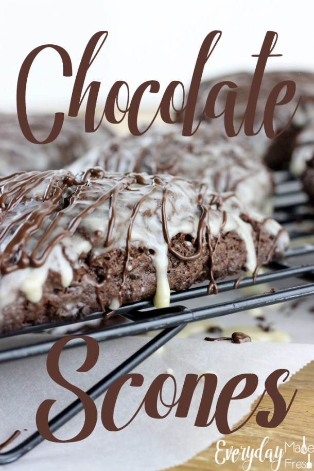 Dark Chocolate Scones are bursting with chocolate flavor. They are a cross between a muffin and a biscuit, and pair perfectly with a cup of coffee, no matter the time of day. They are a favorite with anyone that tries them. #ad #CanYouCoffee   EverydayMadeFresh.com