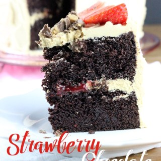 Strawberry Chocolate & Peanut Butter Cake