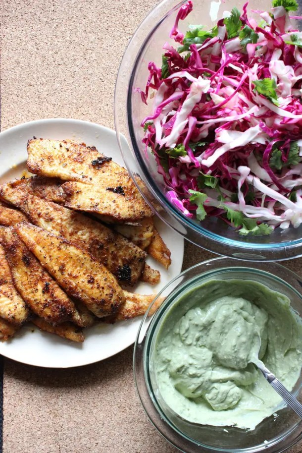 Fish tacos are popular these days, Try this delicious version of blackened flounder tacos the next time fish tacos are on your weekly menu.   EverydayMadeFresh.com
