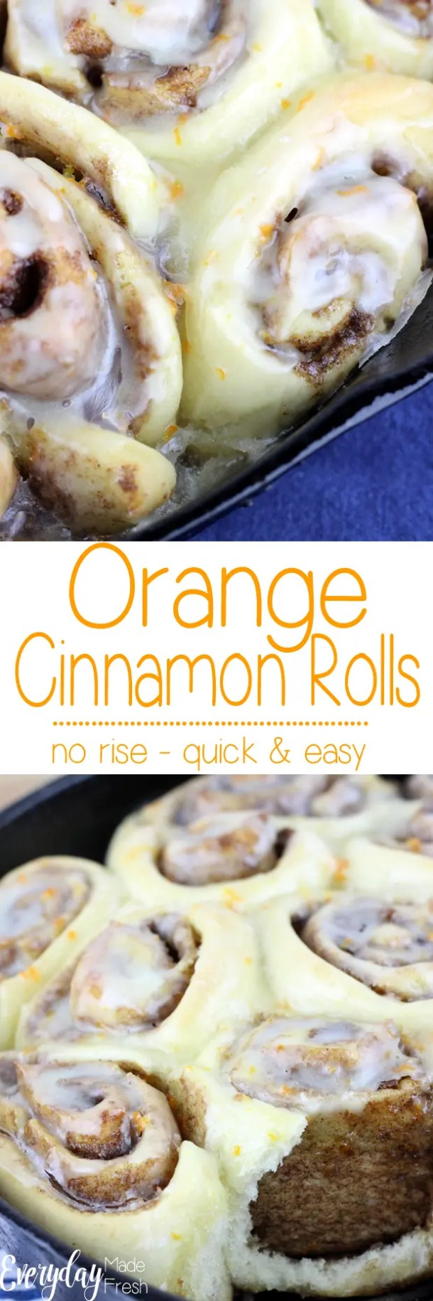 These Orange Cinnamon Rolls are so easy, anybody can make them! The tender dough turns out the perfect cinnamon roll every time. | EverydayMadeFresh.com