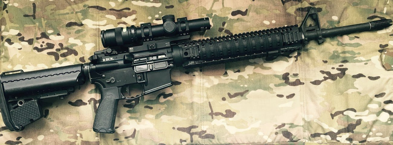 """20"""" BCM rifle with VLTOR A5 kit and Trijicon TR24"""