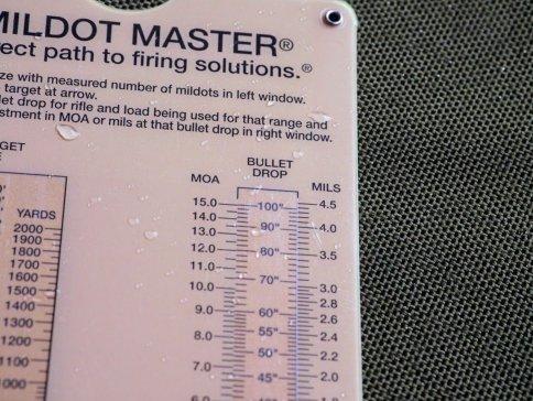 mildot-master windage and bullet drop