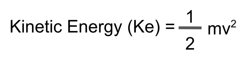 formula for calculating kinetic energy