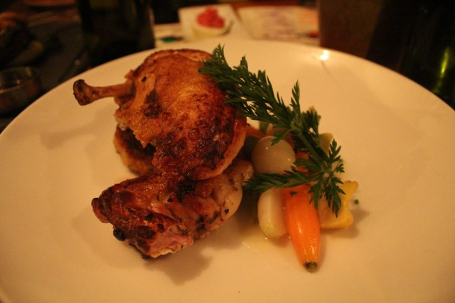 The farmhouse chicken is tasty and filling. So come in hungry!