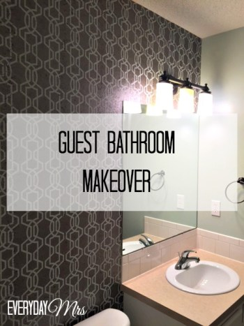 guest bathroom makeover