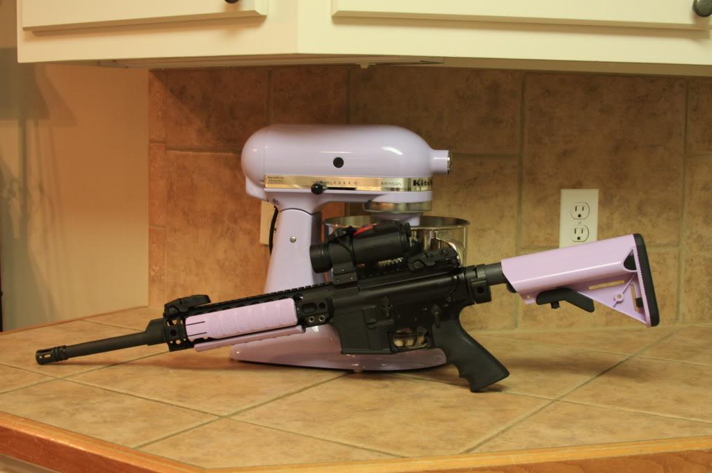 KitchenAid mixer with matching AR15