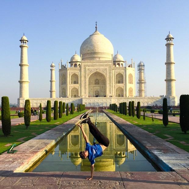 The iconic Taj Mahal in India