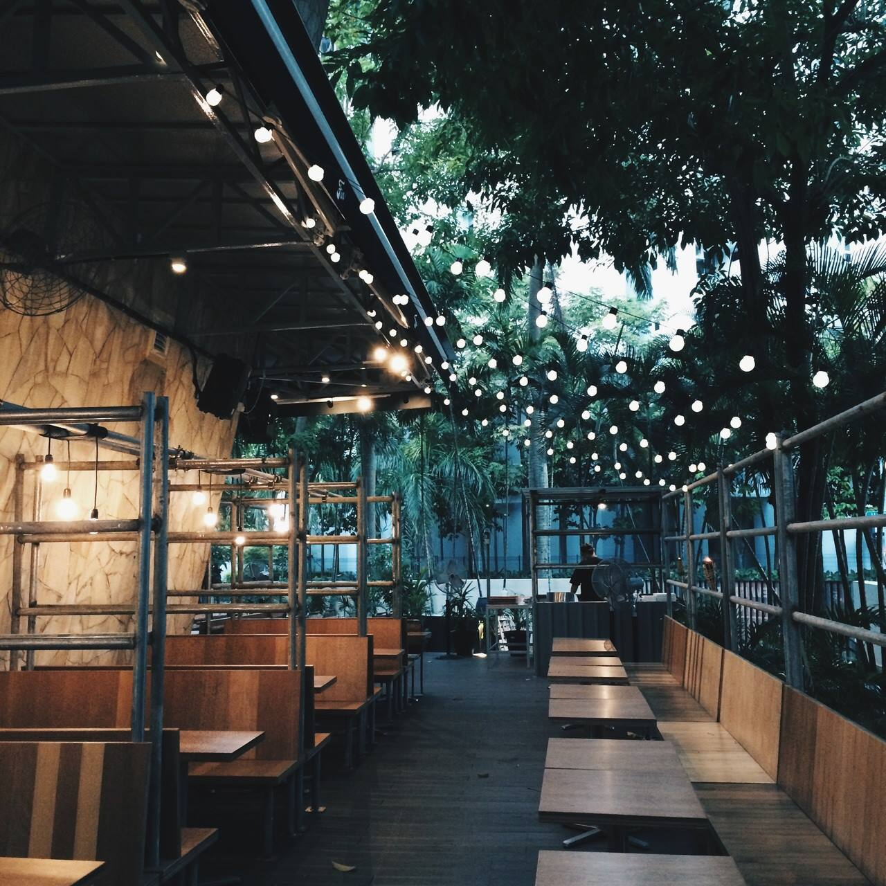 While its interior boasts an industrial vibe thats both chic and playful the alfresco area boasts a breezy deck