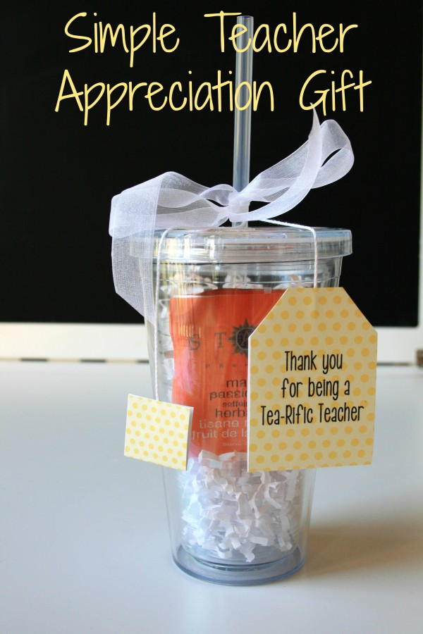 Simple and Affordable Iced Tea Cup Teacher Appreciation Gift