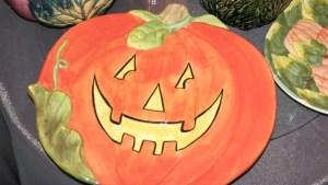 Halloween Halloween Jack O' Lantern Pumpkin Platter