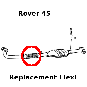 Rover 45 1.4 2000-2005 Exhaust Repair Flexi Flex