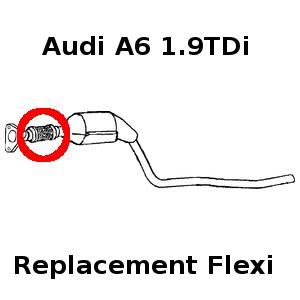 Audi A6 Skoda Superb exhaust flexi flex repair front pipe