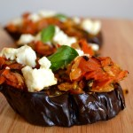Roasted Eggplant with Tomatoes and Feta