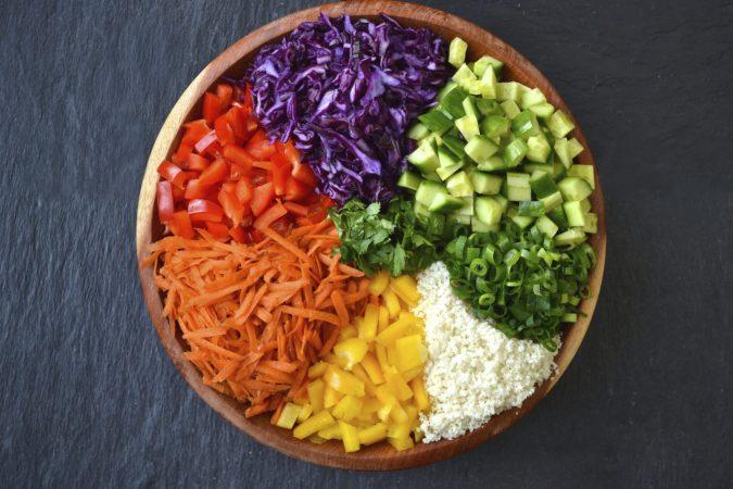 Asian Cauliflower Rice Salad