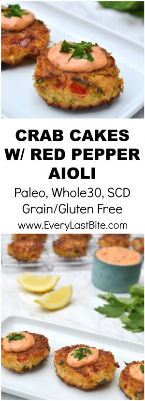 Crab Cakes With Roasted Red Pepper Aioli Every Last Bite
