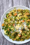 Shaved Brussel Sprout Caesar Salad