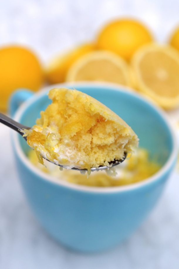 Paleo Lemon Cake In A Mug