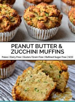 Peanut Butter & Zucchini Muffins