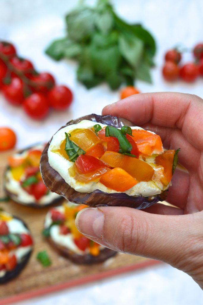 Paleo Eggplant Bruschetta