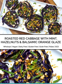 Roasted Red Cabbage with Mint, Hazelnuts & Balsamic