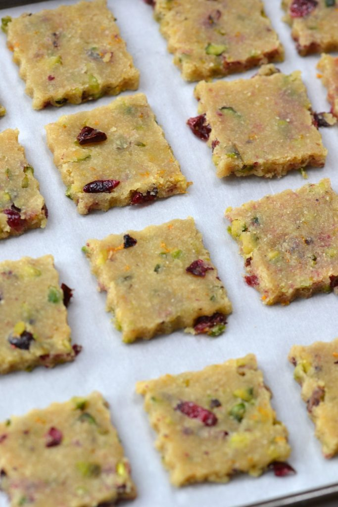 Pistachio, Cranberry & Orange Cookies