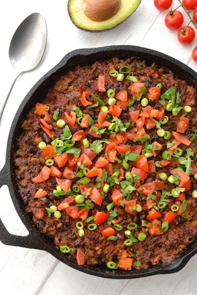 Beef & Cauliflower Rice Mexican Casserole