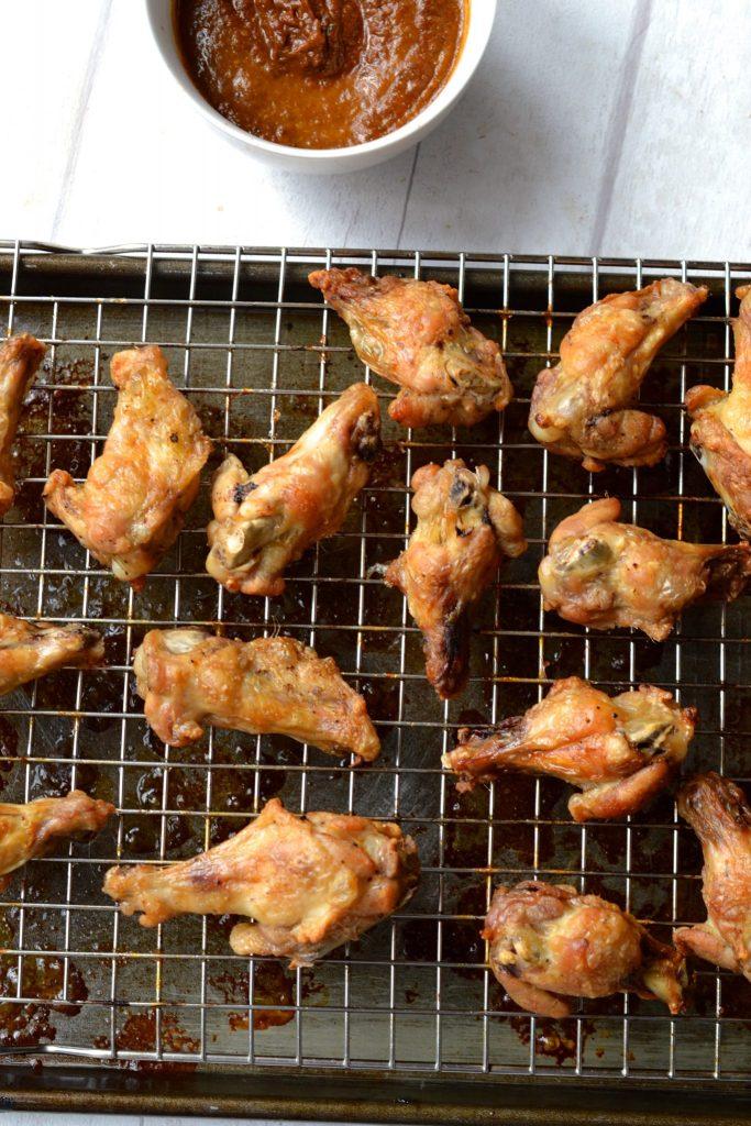 Chipotle Chicken Wings w/ Avocado Crema