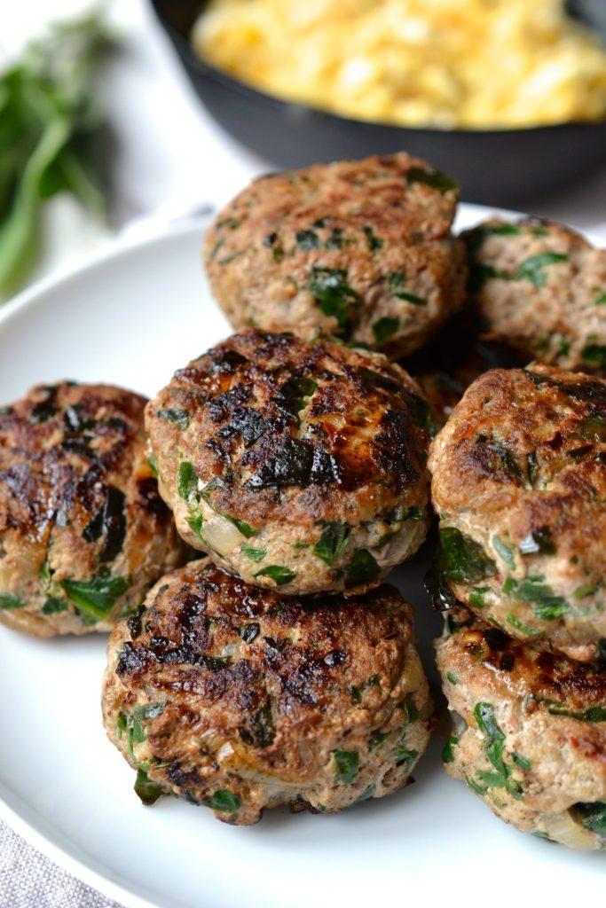 Turkey, Spinach & Onion Breakfast Sausage