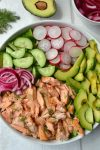Salmon, Avocado & Radish Salad with Creamy Dill Dressing