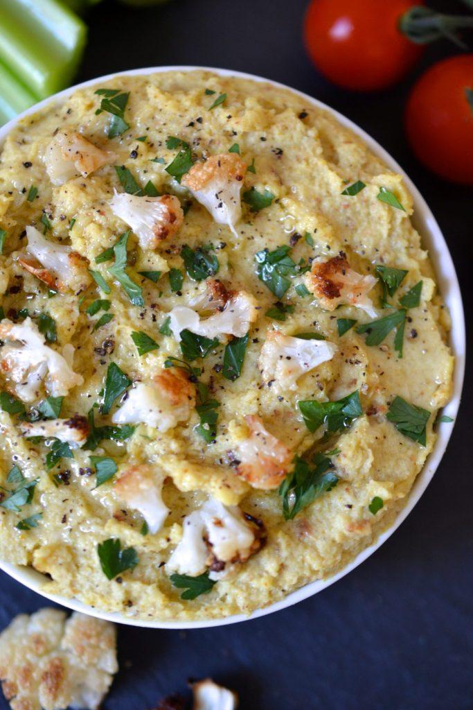 Curried Cauliflower Hummus